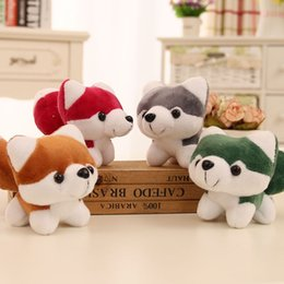 4 items a lot8cm*13cm cute husky puppy dog toy, doll key chain activity gift,four colors.