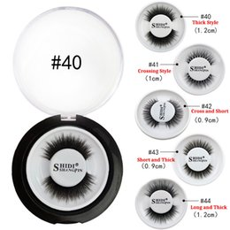 Private Label False Eyelashes 3D Mink Lashes 5 styles Makeup Eyelash For Beauty Extension Hand Made Full Strip Lashes With Round Box