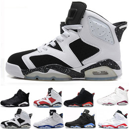 2018 new Angry bull good quality 6s shoes Hare Alternate men Basketball Shoes White Grey Red sports Sneakers Athletics Shoes US 7-13