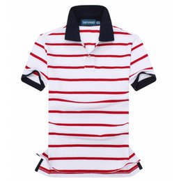 Wholesale 2018 summer new high quality 100% cotton men's fashion striped short-sleeved POLO shirt casual men's POLO shirt short-sleeved