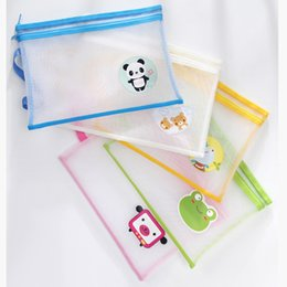 Mesh Zipper Pouch A4 Size Double Layer Bags Clear Zipper Pouch Small Organizer bag Zipper Folder Cosmetic Bags Travel Storage pouch Animal