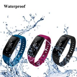 Smart Bracelets Fitness Tracker Step Counter Activity Monitor Band Alarm Clock Vibration Wristband for iphone Android phone V07