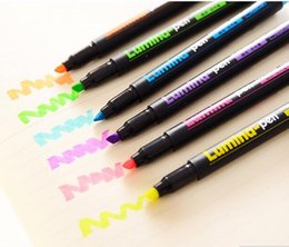 lumina color highlighter pen scrawl drawing pen DIY marker pen stationery school supplies papelaria free shipping 2018 new high
