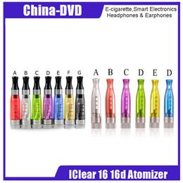 Original Innokin iClear 16 iClear 16D 1.6ml Bottom Dual Coil Atomizer Ego Atomizer iClear16D 510 Thread Atomizer