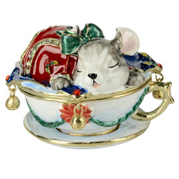mouse animal jewerly trinket ring box storage container birthday Christmas gifts