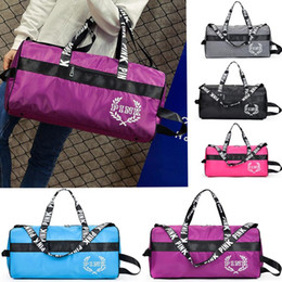 Fashion Pink Style Handbags Travelling Beach Bag Duffel Shoulder Bags Large Capacity Waterproof Fitness Yoga Bags