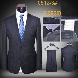 Suit jacket luxury wool striped designer latest coat and pants office suits brand men slim fit business blazers