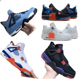 [Etiqueta] nike jordan retro 4 Travis Scott x 4 Houston Oilers Azul Negro Baloncesto Zapatos 4s Raptors Motorsport Cactus Jack Hombres 2018 Authentic Sneakers Sports 406