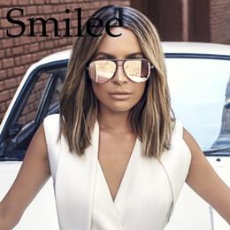 haute clé lunettes de soleil rose cadre en métal doré lunettes de soleil  femmes pistolet rose miroir dames noir fade nuances marque de mode 1c8cc3261ab3