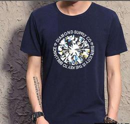 s-5xl free shipping New Fashion men hip hop o-neck Print Diamond T-shirt Breathable Painting White Black Red
