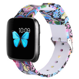 for Fibtbit Versa Bands,Soft Silicone Sport Replacement Accessories Bracelet Strap Band for 2018 Fitbit Versa Smart Watch,Printed Color