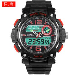 Outdoor Sports Watches Quartz Analog Digital Watch Army Military Wristwatches relojes erkek kol saati 1326 Sport Men Watches Led
