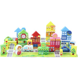 Clever carpenter children's scene wooden building blocks toy block 160 digital letters le multi-functional wooden building blocks.
