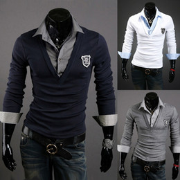Autumn Mens Polo-Shirt Long Sleeve pullover Soild Black White Cotton Breathable Polo Shirt Men Slim Fit Business Jacket Foar Man Size S-2XL