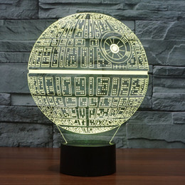 Death star 3D LED Night Light Touch Switch Table Lamp USB 7 Color Room Decor Colorful LED Lighting for Gift