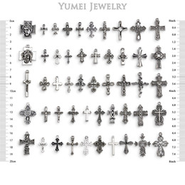 In 2017, wholesale new, cross, pendant, mixed with 50 kinds of products to produce Tibetan silver, beautiful necklace pendant