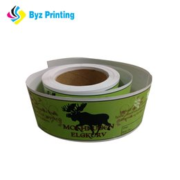 2019 best price customized self adhesive waterproof printed label food can box bottle