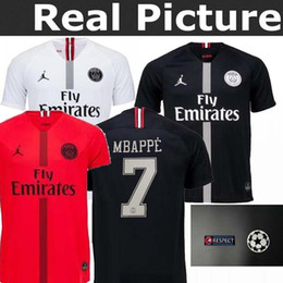 top best quality 2018 Psg red jersey 18 19 Champions League Buffon MBAPPE CAVANI VERRATTI MARIA Jordam Paris maillot de foot shirt