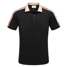 2018 Men's Spring Summer Casual Business T-shirt Classic Shirt Men's Shirt Classic Men's T-Shirt Trend T-Shirt 1221