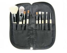 9pcs sets Fashion Pro Comestic Makeup Brushes Set Quality Fleece Makeup Brushes Set Zipper Bag Makeup Set