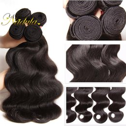 Nadula Hair Extensions Indian Body Wave Hair Smoothy Weaves 100% Human Hair Products Top Virgin Natural Color Can Mix Bundles Good Quality