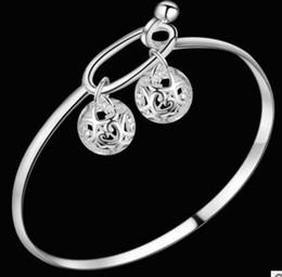 Hot Sale 925 Sterling silver Open Bangle Beauty silver jewerly Free shipping 1 Dozen