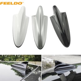 FEELDO White Silver Black 3in1 Shark F connector 3.5 TRS IEC Booster TV Antenna Decoration Antenna #888