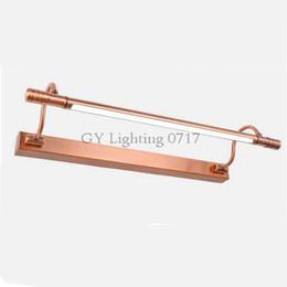 AC 110V 220V 230V 240V Red Bronze LED European bathroom mirror light modern cabinet LED wall lamp retro Industrial Kitchen lights
