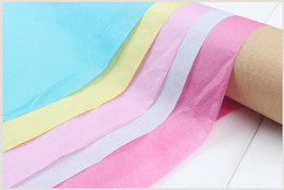 proof DIY wrapping Tissue Paper Wedding Gift clothing wrap Paper Copy Tissue Paper solid candy colors 50*66cm free shipping high quality