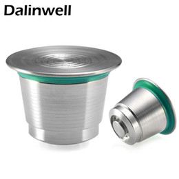 2018 NEW Stainless Steel Metal Nespresso Reusable Coffee Filter Drip Cup Dripper Refillable Capsule for Nespresso Machine+ 1 Spoon +1 Brush