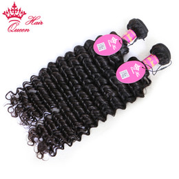 Queen Hair Products Brazilian Curly Virgin 2pcs Free Shipping,Deep Wave Virgin Can Be Dyed Brazilian Human Hair Extension