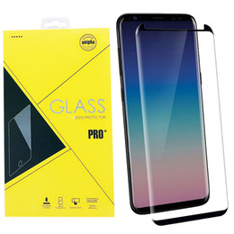 Case Friendly Full Cover Coverage 3D Curved Tempered Glass For Samsung Galaxy S9 Plus S8 S7 Edge Note 9 8 Screen Protector With Package