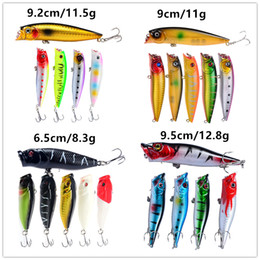New 4 Styles Floating Swimming Popper Fishing bait set 3D Big mouth Fish Float Fishing Lure