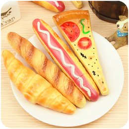 free shipping 2018 new Funny Pizza Ball Pen creative Simulation Bread BallPoint Pens Stationery Canetas escolar material school supplies hot