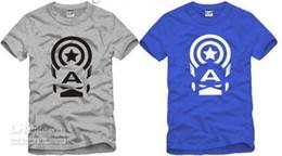 free shipping summer tee kids t shirt children T-shirt Captain America printed anime t shirt for children 6 color 100% cotton