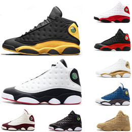 Mens 13s basketball shoes 13 Melo Class of 2002 Chicago DMP Chutney Flint Navy Black Cat Flint sports sneaker shoes size 8-13