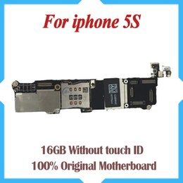 100% Original Unlocked,16gb 5s Mainboard without Touch ,for iphone 5s Motherboard Free Shipping