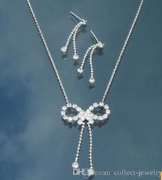 crystal diamond bride wedding set necklace earings hfgdf