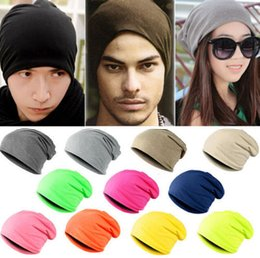 Wholesale 10pcs Lot Unisex Women Men Knitted Winter Warm Oversized Ski Slouch Hat Cap Baggy Beanies