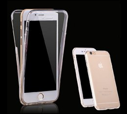 For iPhone X 8 7 6S Plus 8 plus 360 Degree Full Protective TPU Transparent Case Front and Back Cover Touch Case 100PCS LOT