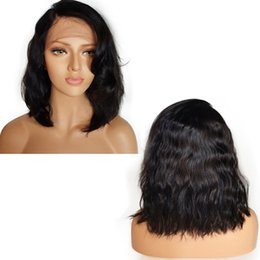 Right Part Brazilian Virgin Hair Short Bob Wigs Wavy Lace Front Human Hair Wigs Bob Wigs with Baby Hair