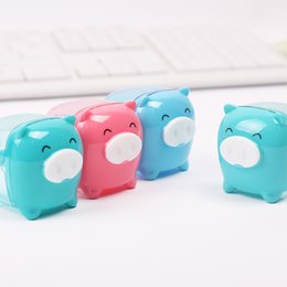 Little Pig Candy Color Pencil Sharpener Creative Kawaii Cartoon Animal Pencil Sharpener for Student Stationery Gift free shipping 2018 new