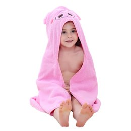 Children's bath robes 2018 Summer Baby Blanket Towel Set New Arrival Animal Robes 6 Colors Hooded Bathrobes