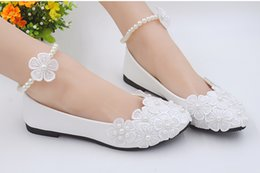 White hand-made high heel wedding shoes bridal bridesmaid single women's shoes Korean version of floret princess shoes