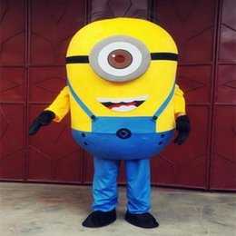 New Style Adult Cute BRAND Cartoon New Professional Animal One Eye Despicable Me Mascot Costume Fancy Dress Hot Sale Party costume Free Ship