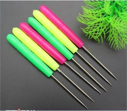 Free Shipping! Stainless Steel & Plastic Handle Awl Mixed For Sewing & Pattern Making 14cm,20PCs Lot (B26957)