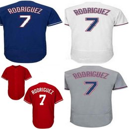 2015 New Cheap Mens Womens Kids 7 IVAN RODRIGUEZ Texas 1993 Cooperstown grey red white blue Flex Cool Base Throwback Baseball Jerseys