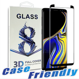 Case Friendly For Samsung Note 10 S10 5G VERSION E S9 S9 plus Tempered Glass Full Cover 3D Screen Protector For Samsung Note 9 8 S8 S7
