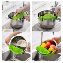 Silicone strainer pot side water filter practical clip-on pot strainer perfect fit different size pots water filter kitchen gadget
