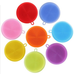 China factory safety colorful hot selling high quality kitchen dish food grade silicone washing sponge scrubber